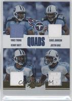 Chris Johnson, Justin Gage, Kenny Britt, Vince Young /50