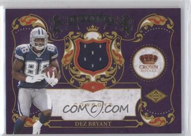 2010 Panini Crown Royale - Rookie Royalty - Materials [Memorabilia] #24 - Dez Bryant /299