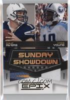 Vince Young, Philip Rivers #/50