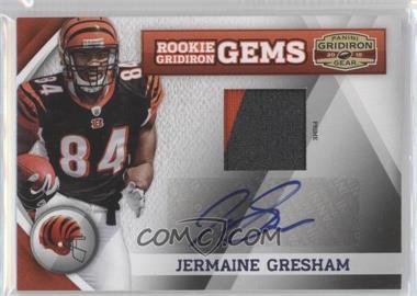 2010 Panini Gridiron Gear - [Base] - Rookie Gridiron Gems Materials Prime Signatures [Autographed] [Memorabilia] #258 - Jermaine Gresham /10