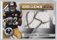 Rookie Gridiron Gems Jumbo Signatures - Emmanuel Sanders /182