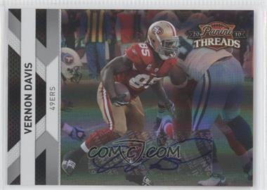 2010 Panini Threads - [Base] - Silver Signatures [Autographed] #128 - Vernon Davis /10