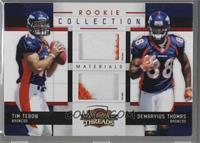 Tim Tebow, Demaryius Thomas [Noted] #/25