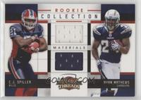 Ryan Mathews, C.J. Spiller [EX to NM] #/299