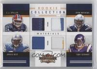 C.J. Spiller, Jahvid Best, Ryan Mathews, Toby Gerhart #/25