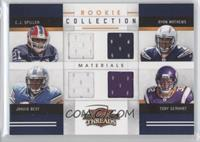 Jahvid Best, Ryan Mathews, C.J. Spiller, Toby Gerhart #/299