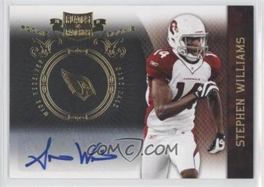 2010 Plates & Patches - [Base] - Infinity Gold Signatures [Autographed] #191 - Stephen Williams /25
