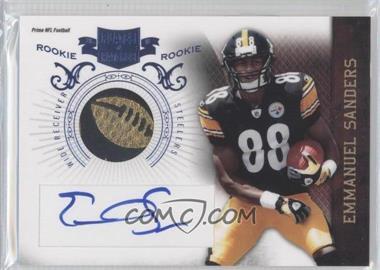 2010 Plates & Patches - [Base] - RPS Rookie Football Prime Signatures [Autographed] [Memorabilia] #212 - Emmanuel Sanders /3