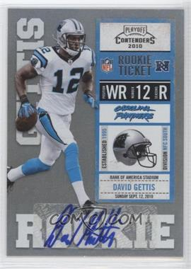 2010 Playoff Contenders - [Base] #122 - David Gettis
