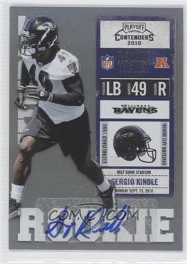 2010 Playoff Contenders - [Base] #163 - Sergio Kindle