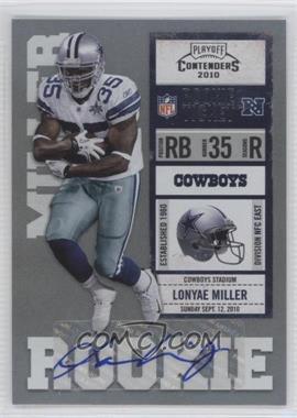 2010 Playoff Contenders - [Base] #166 - Lonyae Miller /412