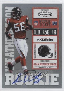 2010 Playoff Contenders - [Base] #187 - Sean Weatherspoon