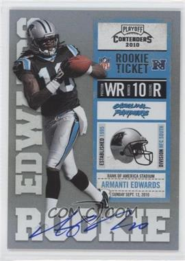 2010 Playoff Contenders - [Base] #202.2 - Armanti Edwards (Black Jersey)