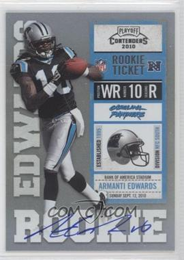 2010 Playoff Contenders - [Base] #202.2 - Armanti Edwards (Black Jersey)