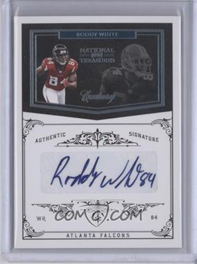 2010 Playoff National Treasures - [Base] - Century Platinum Signatures [Autographed] #8 - Roddy White /1