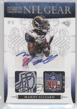 2010 Playoff National Treasures - NFL Gear - Combos Laundry Tag Signatures #18 - Mardy Gilyard /10
