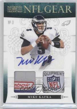 2010 Playoff National Treasures - NFL Gear - Combos Laundry Tag Signatures #26 - Mike Kafka /10