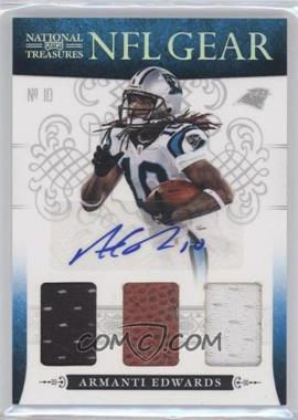 2010 Playoff National Treasures - NFL Gear - Trios Signatures #20 - Armanti Edwards /10