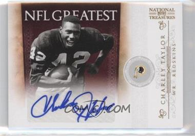 2010 Playoff National Treasures - NFL Greatest - Signatures [Autographed] #8 - Charley Taylor /5