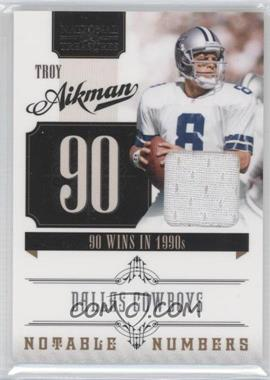 2010 Playoff National Treasures - Notable Numbers - Materials [Memorabilia] #32 - Troy Aikman /99