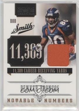 2010 Playoff National Treasures - Notable Numbers - Materials [Memorabilia] #7 - Rod Smith /99