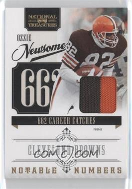 2010 Playoff National Treasures - Notable Numbers - Materials Prime [Memorabilia] #25 - Ozzie Newsome /50