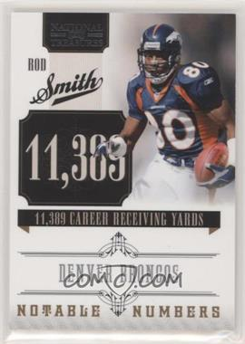 2010 Playoff National Treasures - Notable Numbers #7 - Rod Smith /99