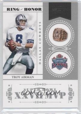 2010 Playoff National Treasures - Ring of Honor #29 - Troy Aikman /99