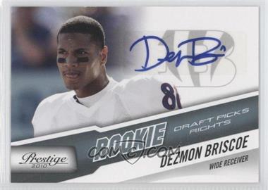 2010 Playoff Prestige - [Base] - Rookie Draft Picks Rights Autographs #235 - Dezmon Briscoe /599