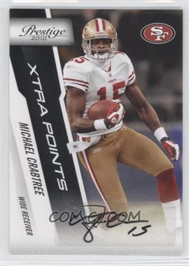 2010 Playoff Prestige - [Base] - Xtra Points Black Autographs [Autographed] #171 - Michael Crabtree /50