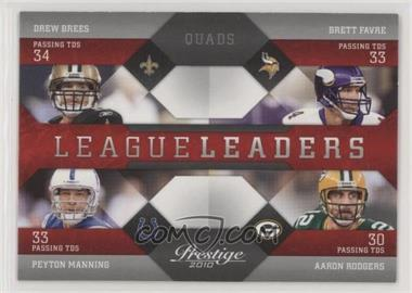 2010 Playoff Prestige - League Leaders #16 - Drew Brees, Brett Favre, Peyton Manning, Aaron Rodgers