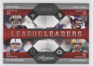 2010 Playoff Prestige - League Leaders #16 - Drew Brees, Brett Favre, Peyton Manning, Aaron Rodgers