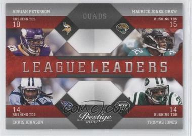 2010 Playoff Prestige - League Leaders #17 - Adrian Peterson, Thomas Jones, Maurice Jones-Drew, Chris Johnson