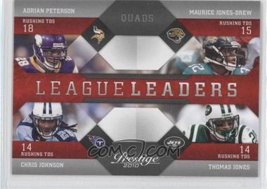2010 Playoff Prestige - League Leaders #17 - Adrian Peterson, Thomas Jones, Maurice Jones-Drew, Chris Johnson