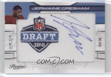 2010 Playoff Prestige - NFL Draft Manufactured Patch Autographs - Draft Logo #25 - Jermaine Gresham