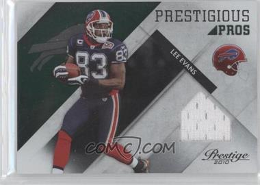 2010 Playoff Prestige - Prestigious Pros - Green Materials #30 - Lee Evans /100