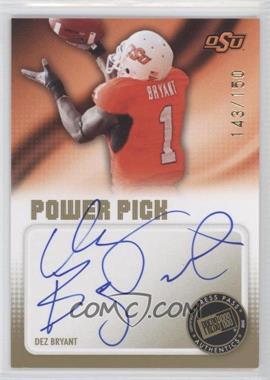 2010 Press Pass - Power Pick Autographs #PP-DB - Dez Bryant /150