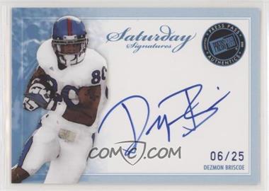 2010 Press Pass - Saturday Signatures - Blue #SS-DB - Dezmon Briscoe /25