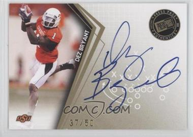 2010 Press Pass - Signatures - Gold #PPS-DB - Dez Bryant