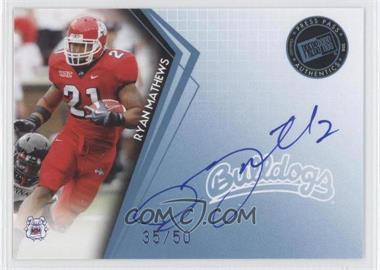 2010 Press Pass - Signings - Blue #PPS-RM - Ryan Mathews /50