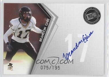 2010 Press Pass - Signings - Silver #PPS-BG - Brandon Ghee /195