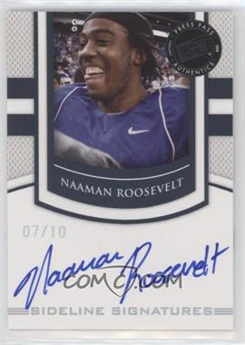2010 Press Pass Portrait Edition - Sideline Signatures - Black #SS-NR - Naaman Roosevelt /10