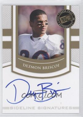 2010 Press Pass Portrait Edition - Sideline Signatures - Gold #SS-DB - Dezmon Briscoe
