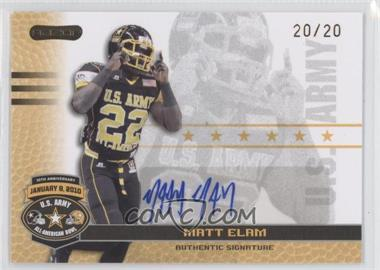 2010 Razor U.S. Army All-American Bowl - Autographs - Gold #BA-ME1 - Matt Elam /20