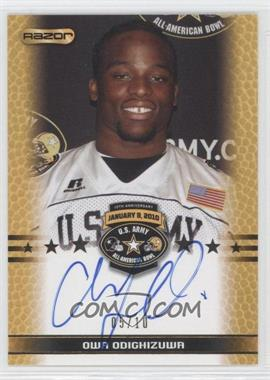 2010 Razor U.S. Army All-American Bowl - Selection Tour Autograph - Gold #TA-OO1 - Owa Odighizuwa /10