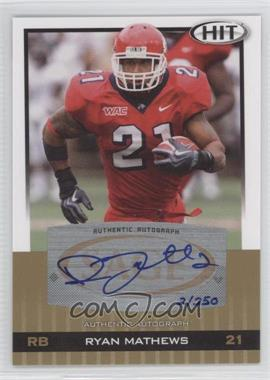 2010 SAGE Hit - Autographs - Gold [Autographed] #A21 - Ryan Mathews /250