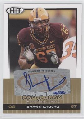 2010 SAGE Hit - Autographs - Gold [Autographed] #A36 - Shawn Lauvao /250