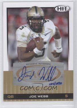 2010 SAGE Hit - Autographs - Gold [Autographed] #A55 - Joe Webb /250