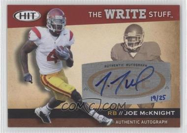 2010 SAGE Hit - The Write Stuff - Autographs [Autographed] #WSA8 - Joe McKnight /25