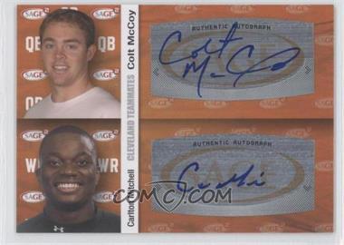 2010 SAGE Squared - Dual Autographs #A63 - Carlton Mitchell, Colt McCoy